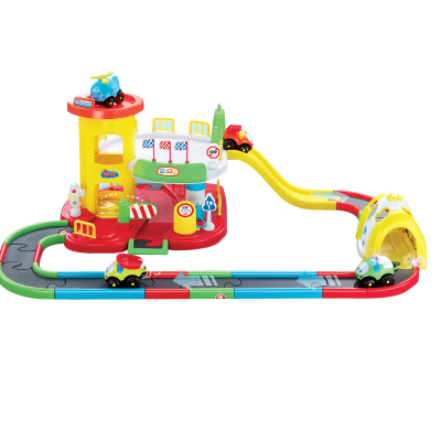 Pretty baby baby educational toys, electric toys for children free shipping Parking track suits pretty baby doll train
