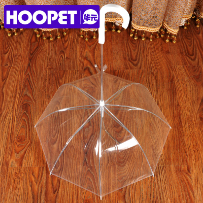 Pet dog umbrella umbrella Teddy Bichon puppy small dog pet supplies dog raincoat poncho chain