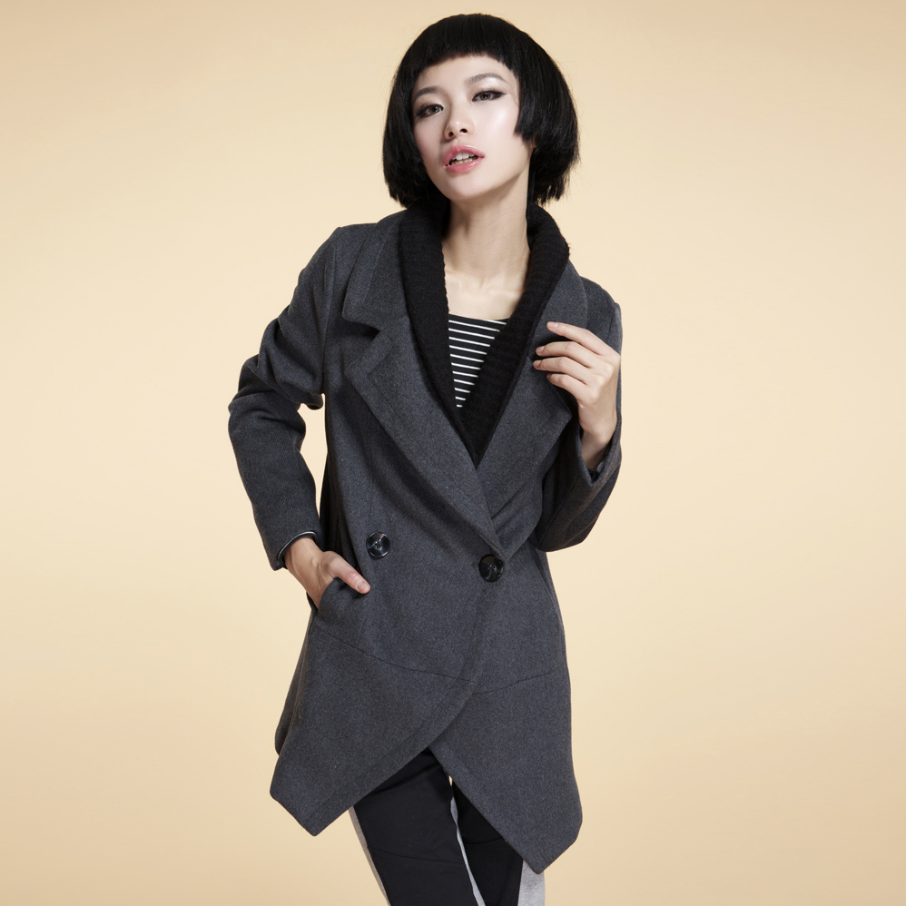 Fall/winter clearance sale new Korea Barret coat woman long slim Korean fashion turndown collar coat