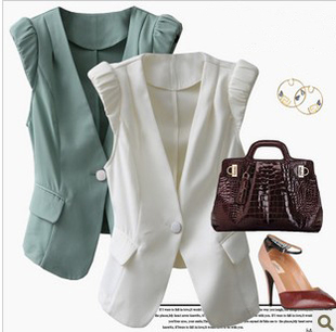 2012 new style women's dress suits women fashion vest waistcoat Korean vest code ladies vest waistcoat