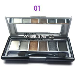 Beautiful said  recommended make-up makeup tools! genuine monplay monplay Rainbow six-color eye shadow 3,611