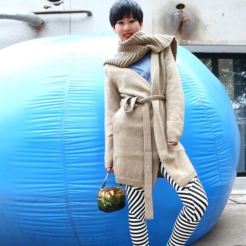 Свитер женский Liangsanshi Sth Полиэстер Осень 2012 Длинный рукав Классический рукав V-образный вырез