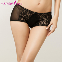 Water the flower waist of authentic new women boxer lace sexy underwear The bottom fork cotton shorts, 313109