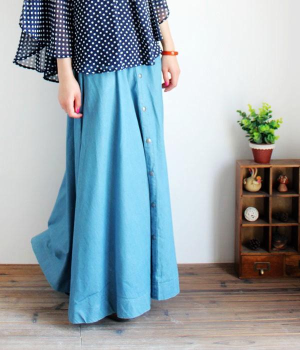 Осень 2012 Однотонный цвет Макси-юбка