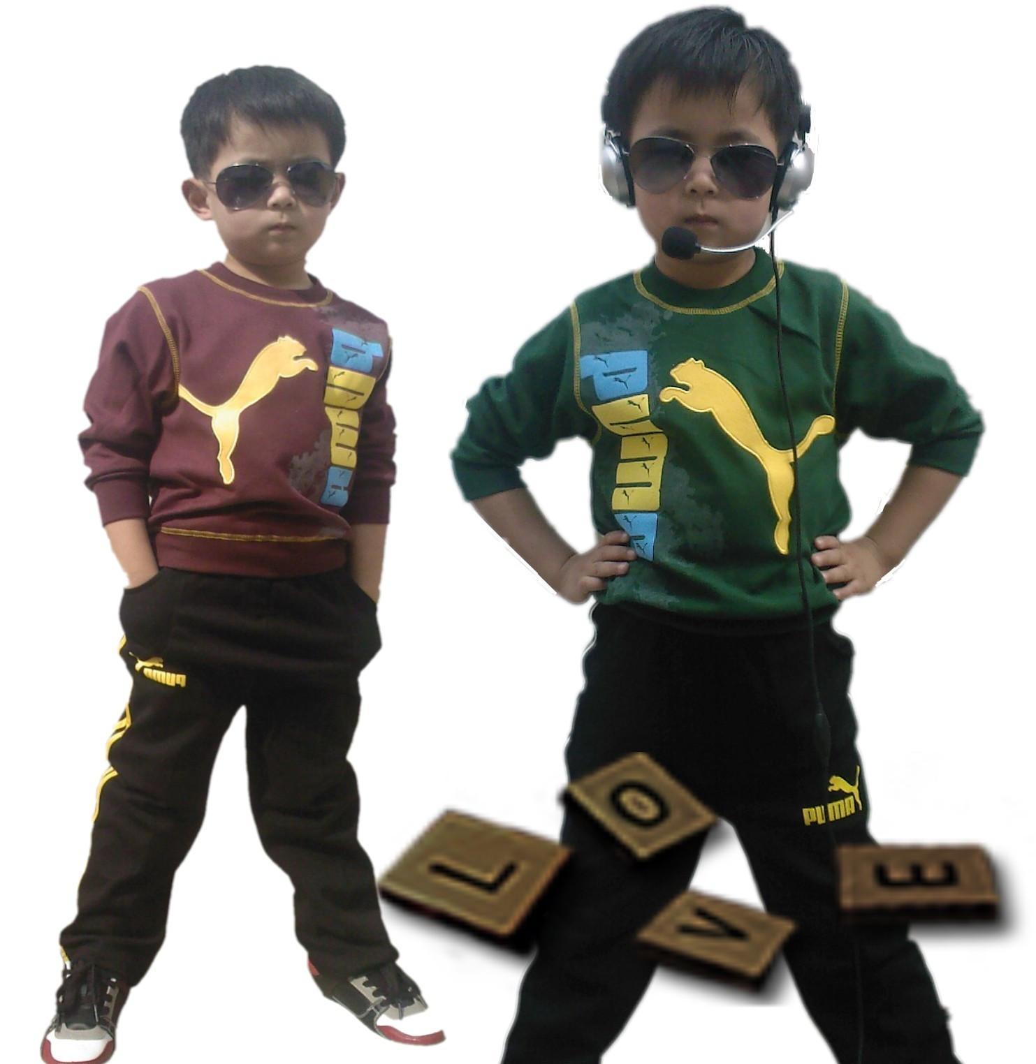 детский костюм 2011年新款大中童纯棉套装男童彪马运动装