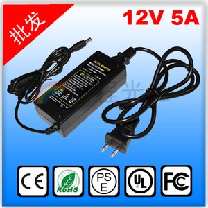Power Supply 12V 5A 60W Adapter for SMD3528 5050 LED Strip