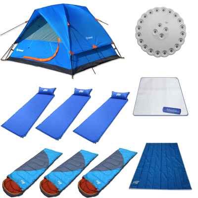 Gore, animal husbandry 3-4 double tent outdoor camping tent packages Package field tents and equipment against storm