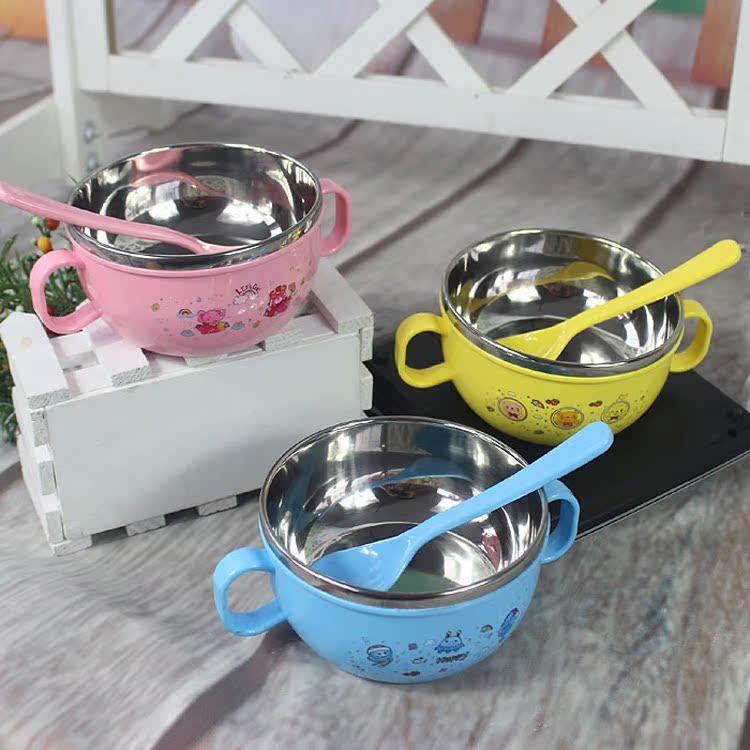 带盖儿童餐具套装宝宝碗勺子婴儿不锈钢保温防烫防摔儿童母婴用品