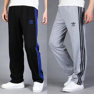 Брюки спортивные Adidas 998a 12 Мужская 100 хлопок Эластичный Осень 2012 С логотипом бренда, Вышивка % Спорт и отдых