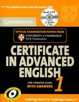 【预订】Cambridge Certificate in Advanced English 1: For