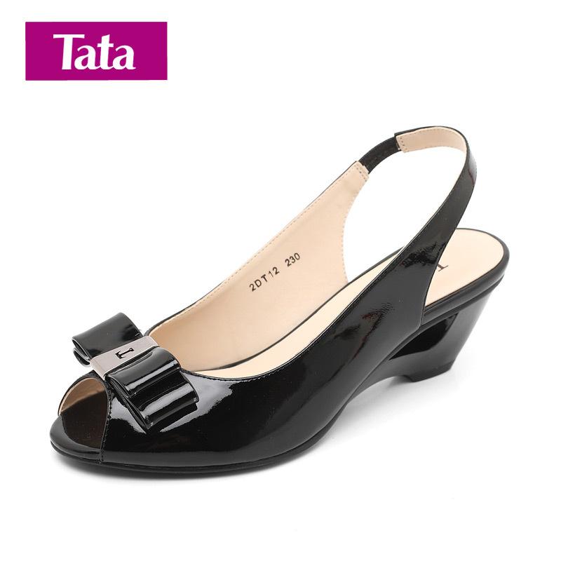 Босоножки Tata 2dt12d 2011 На высоком каблуке (6- 8 см) Верхний слой из воловьей кожи