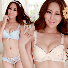 Beauty poem qi taobao detonation model of Japanese chiffon flower girl together underwear suits, sexy bra cover 161 packages