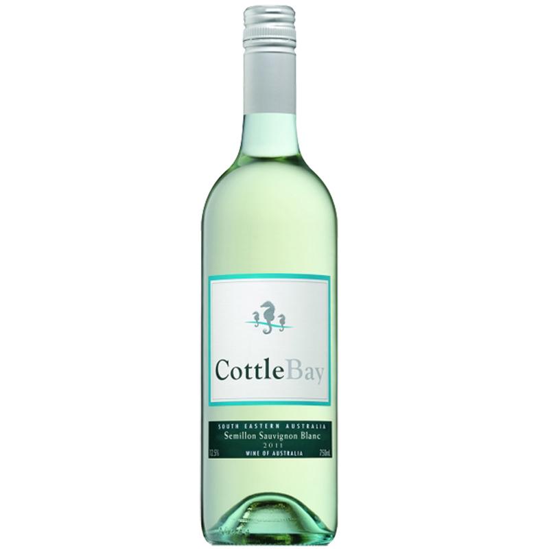 澳洲进口红酒包邮 女士最爱海马湾干白葡萄酒 进口酒 香槟酒750ml
