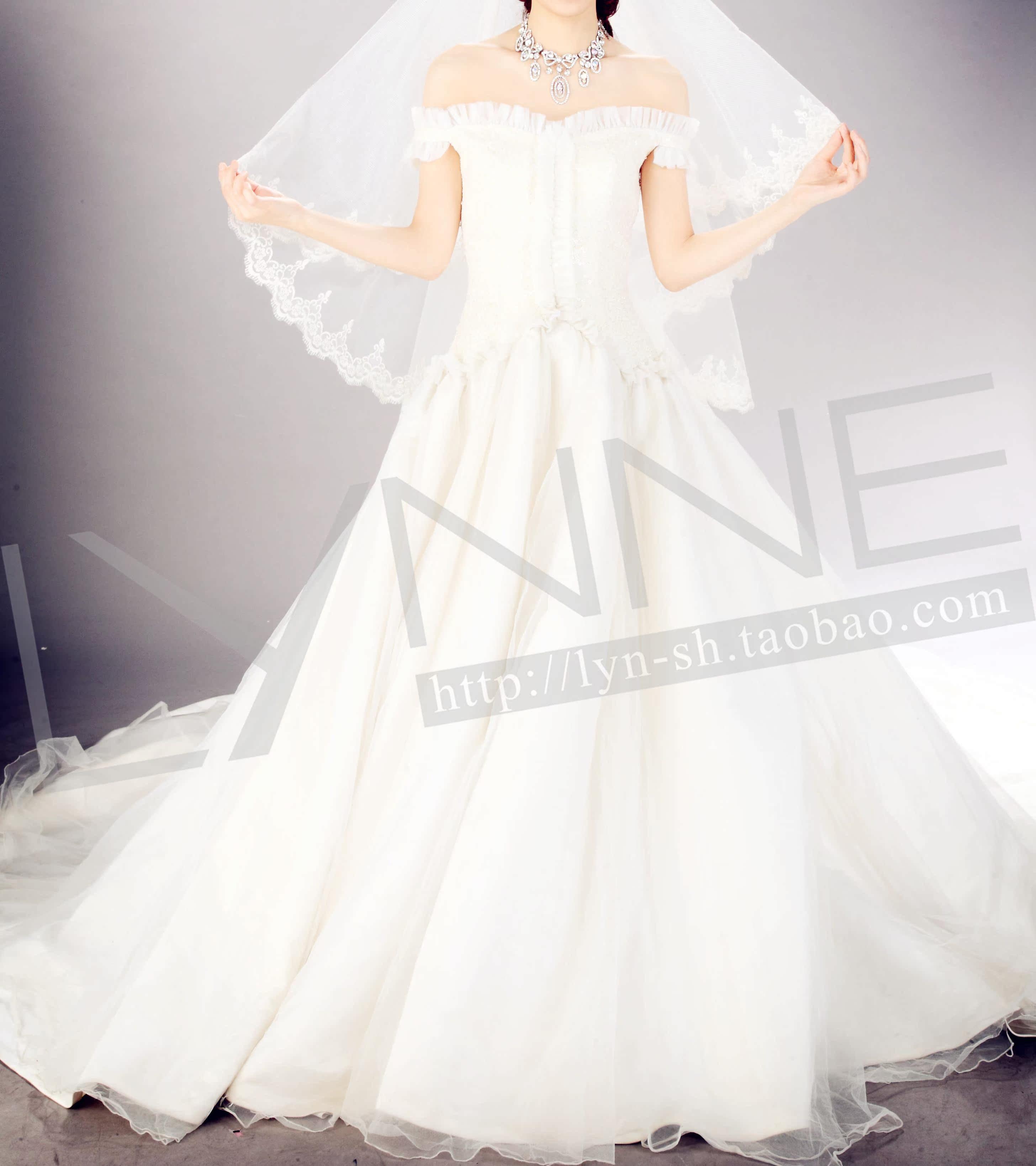 Свадебное платье l12435 Органза А-образная юбка Принцесса