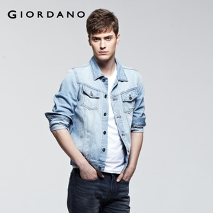 Giordano men's jackets in summer 2012 new old and vintage wash denim jacket 01072026