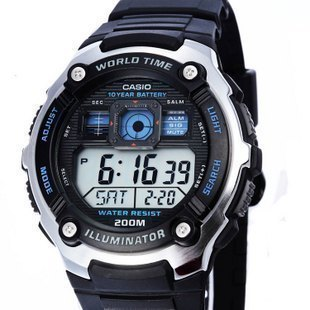 Casio men's watches casio men watch authentic electronic sports waterproof watch students AE-2000W-1A