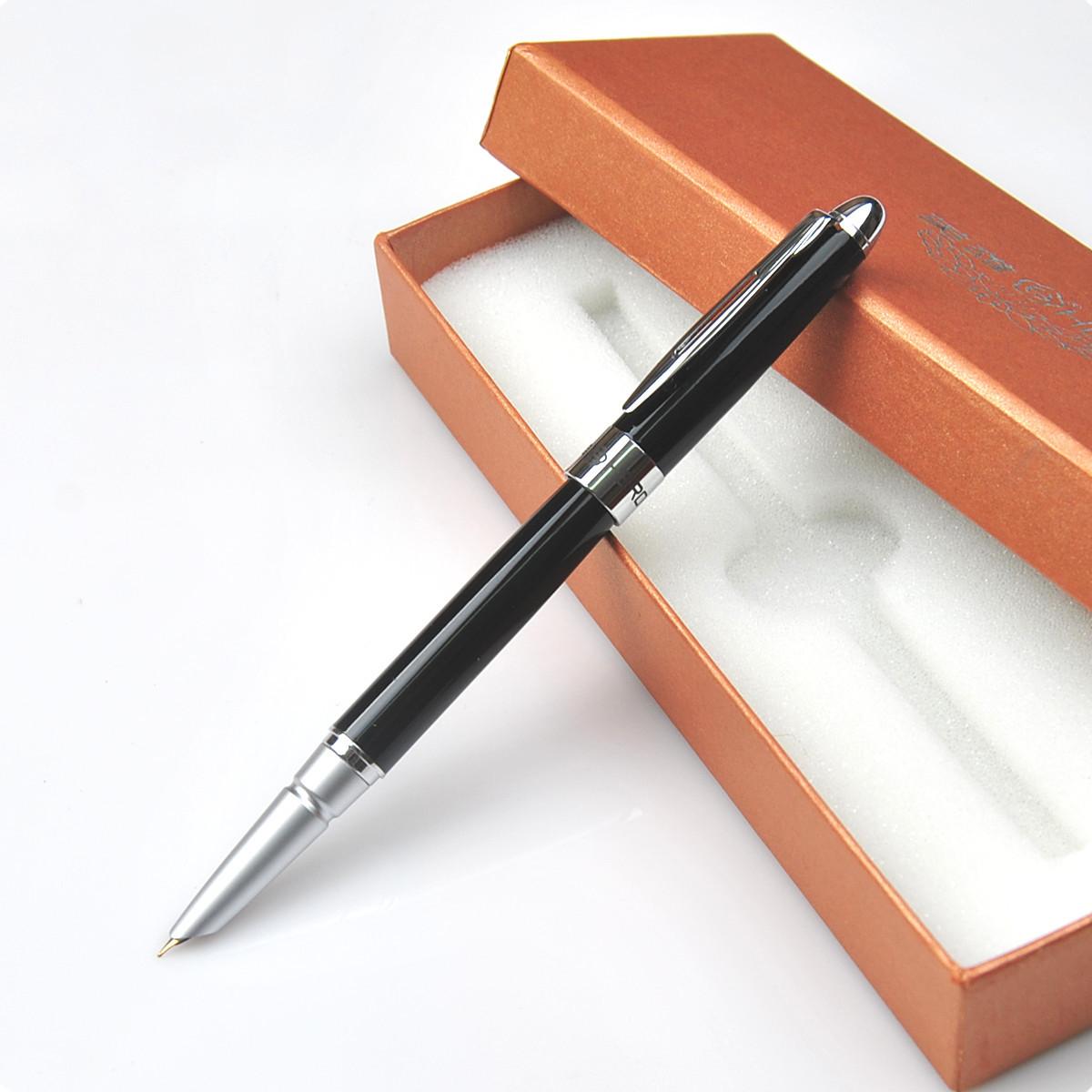 限量特价英雄正品钢笔1020 黑丽雅银夹铱金笔 英雄钢笔特细学生用