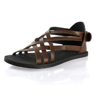 VOGU HOMME Vigo trend of leather men's casual fashion shoe Roman sandal men F0140