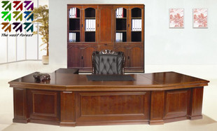 Shanghai Taipan explosions boss Executive Desk Office furniture solid wood veneer Executive desk
