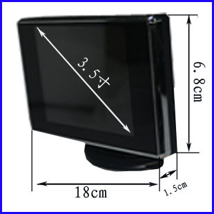 Car display reverse display 3.5-inch HD display (with reverse rear view camera)