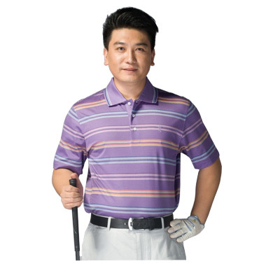 Prototype of new short-sleeved men breathable casual golf mercerized cotton T-shirt / Happy Star Fashion T-shirt