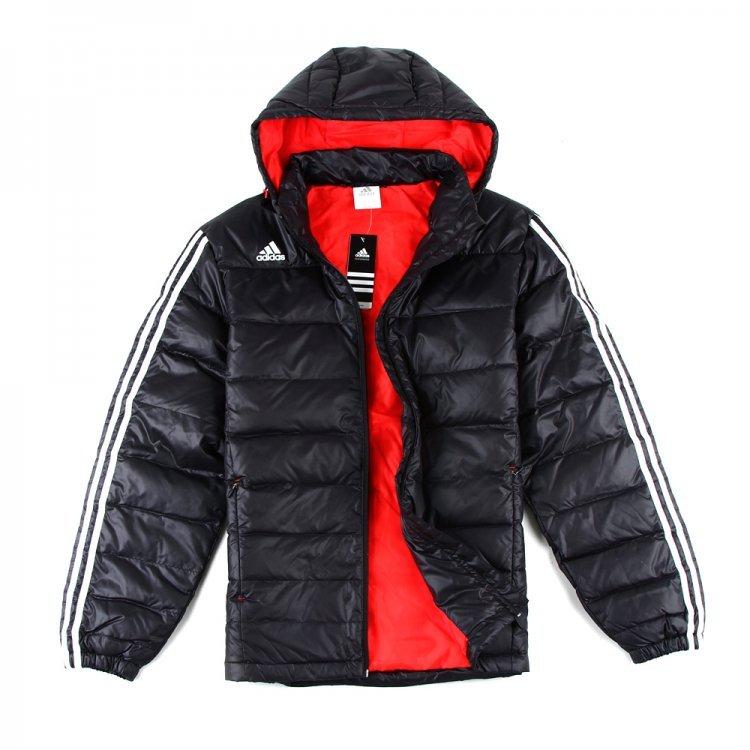 Спортивный пуховик Adidas Z03242 2012 Мужская 80 серый утиный пух Другое Футбол С логотипом бренда % Молния