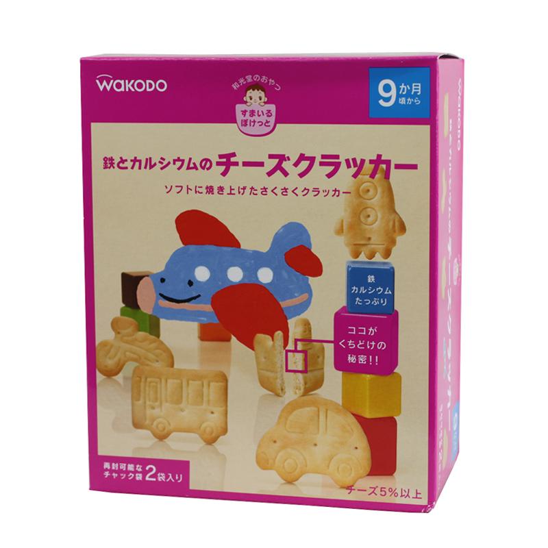 任选6包邮 日本和光堂高铁乳酪卡通交通工具饼干(9个月起)T22