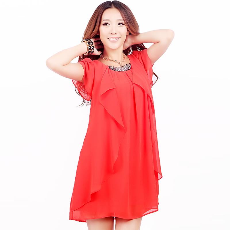 Фото свободные платья из шифона