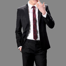 wedding tuxedo suit men suit korean version of slim men suit two single-breasted black suit