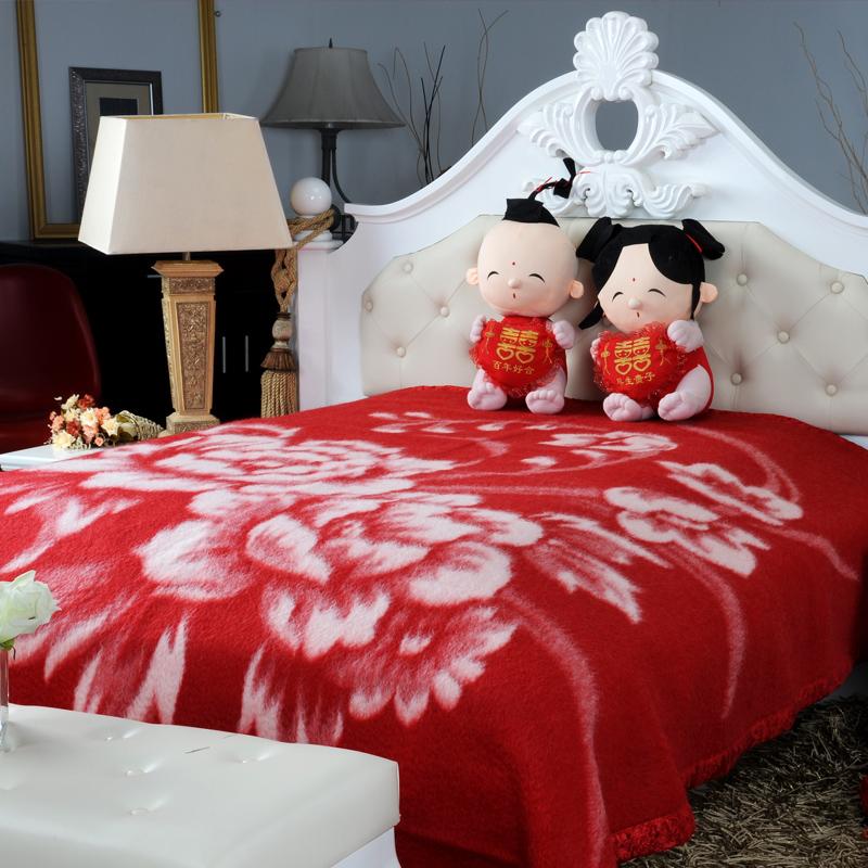 买就送羊毛被 老上海名牌凤凰毛毯中华老字号纯新西兰羊毛婚庆毯