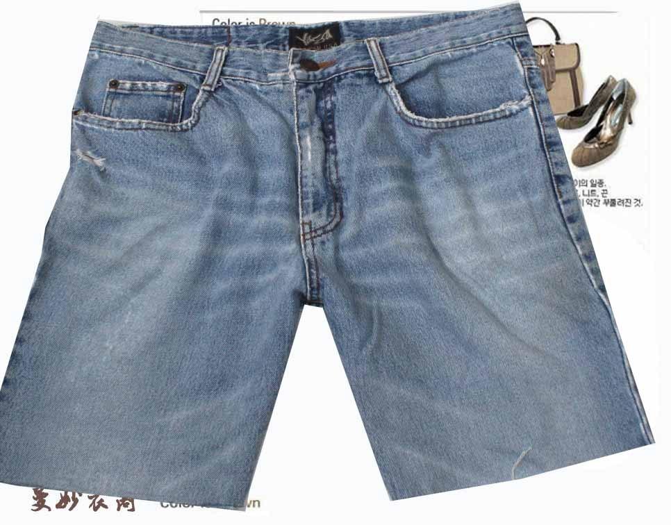 Джинсы женские Распродажа * одежда * жира мм счетчик Джокер старые рваные Жан шорты (32) абсолютный торговаться!