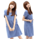 Women's Royal maternity dresses summer Korean new breastfeeding pregnant women fashion short sleeve dress in summer