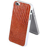 The new iphone5 leather cell phone shell lizard pattern cell phone skin shell trend paste the National