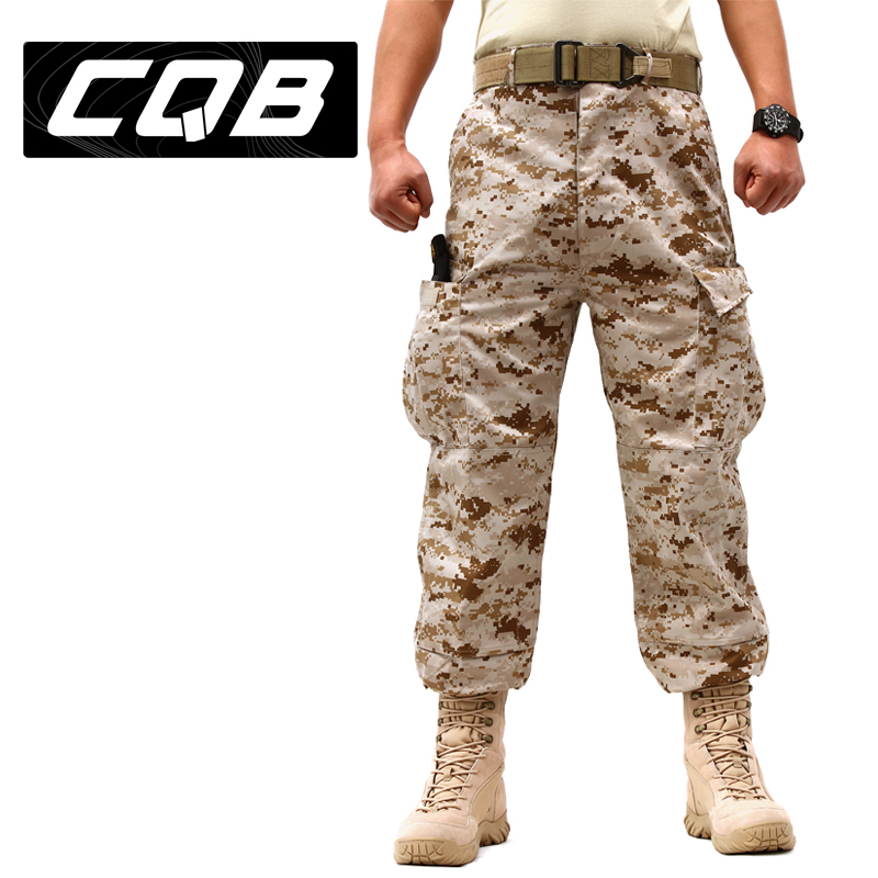 C.Q.B Cotton Polyester Outdoor Camouflage Men Trousers