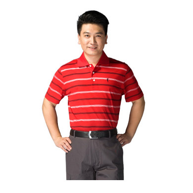 The new short-sleeved golf sports men mercerized cotton T-shirt / fly wicking T-shirt Paradigm