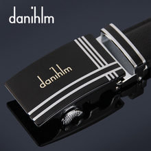 Men's genuine leather danihlm belt Pure product leather belt buckle belt belt male han edition tide male money automatically