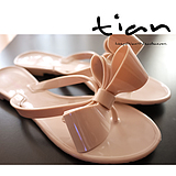 The ultra-America outside the single nude color flat folder toe sandals nude color bow flat slippers jelly sandals