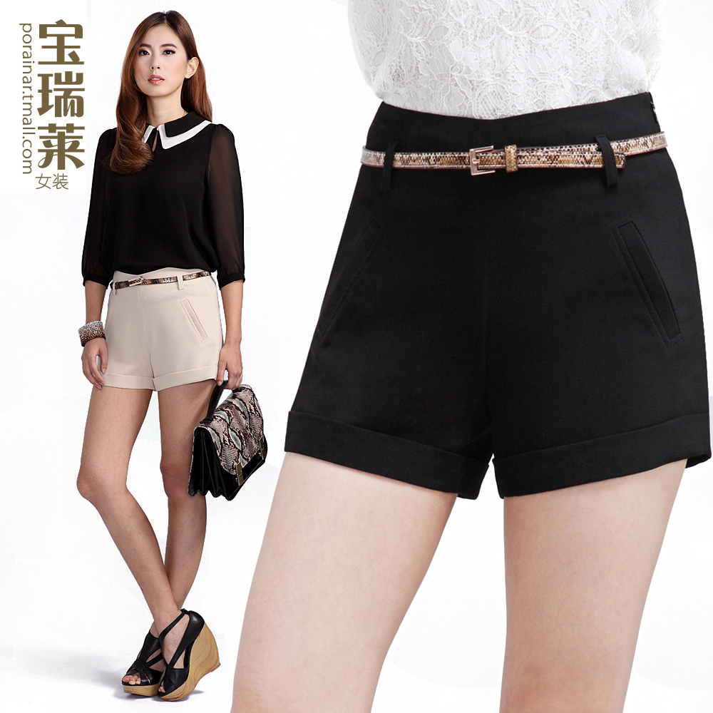 Womens Black Dress Shorts