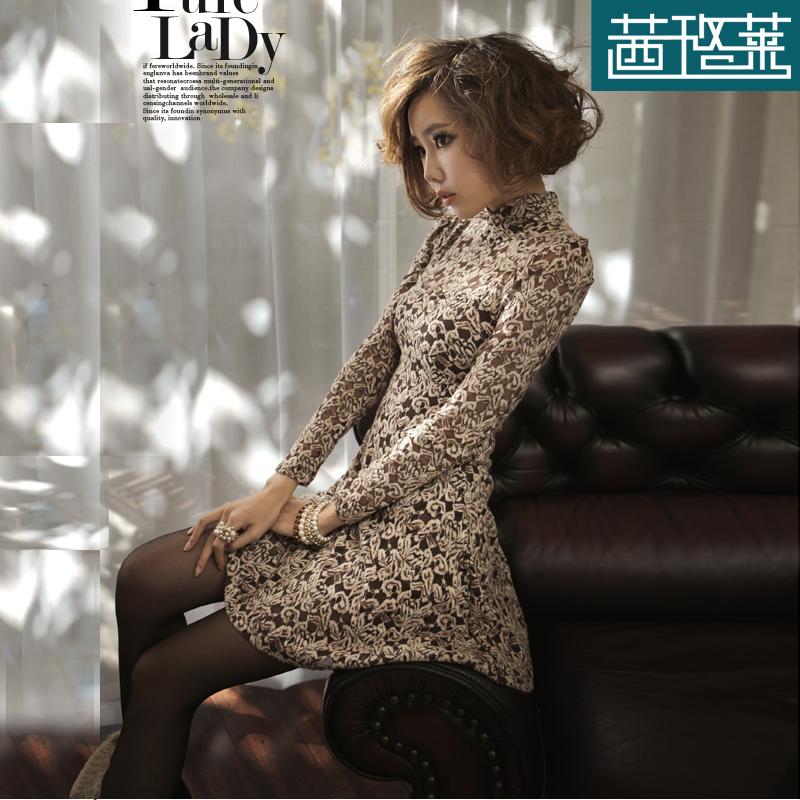 Женское платье Qian Luo Lai XLL/2012114 2013 Весна 2013 Кружево