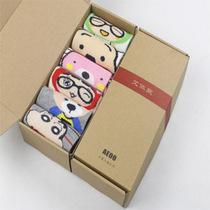 白菜党:艾依欧 H074 男女短卡通袜 礼品盒装