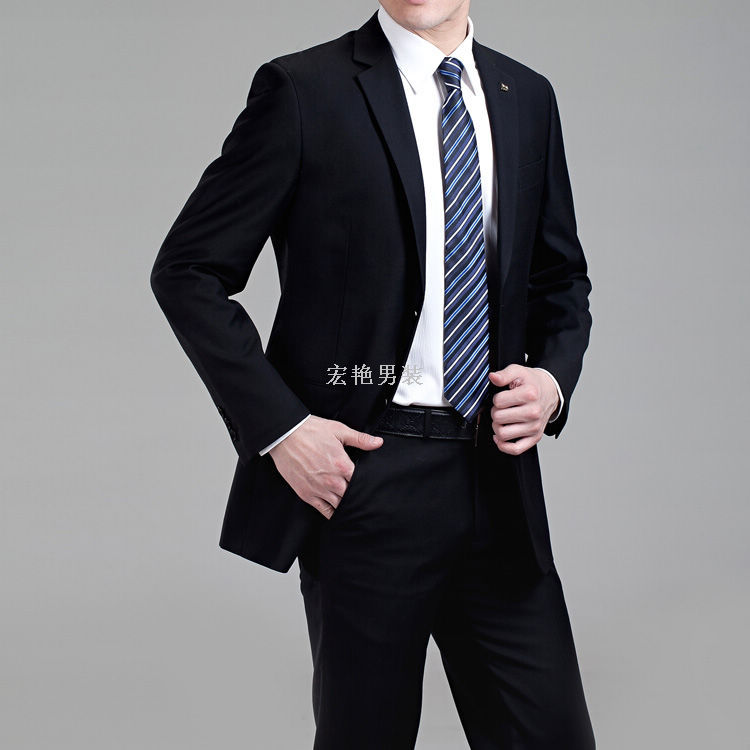 黑色衬衣配什么领带_黑西服配什么领带-黑色的西装,配什么颜色的衬衫和领带好看呢?