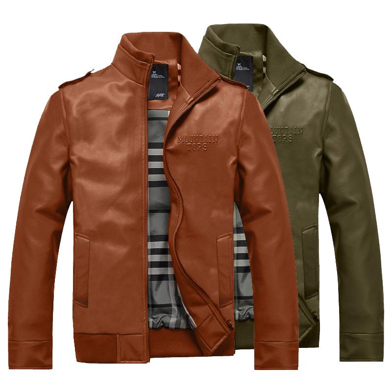 恒曼日 男装立领皮衣 韩版休闲男士皮衣修身皮夹克 潮男外套H9901