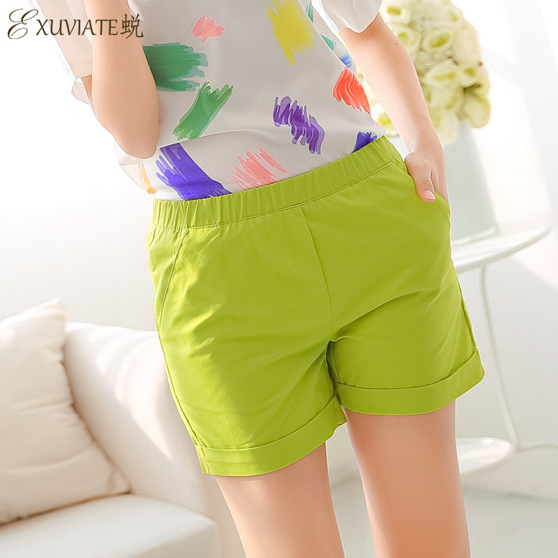 Shed 2014 summer dress new style shorts girl Korean version of loose Candy-colored cotton
