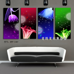 Meishimeike Modern and stylish frameless painting home living room bedroom children's room decorative painting murals beautiful swan lake bed