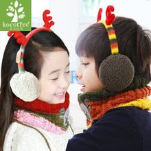 South Korea authentic children's ear protection cover more private baby cute cartoon earmuffs elk Christmas gifts cover their ears