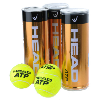 3 cylinder shipping authentic gold ball Hyde HEAD ATP Tennis Masters pot of gold at an official match ball
