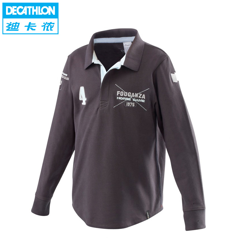 Decathlon 49 percent a genuine POLO shirts t shirt youth/children's Equestrian clothing FOUGANZA