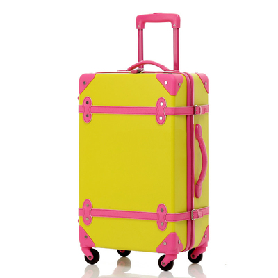 Modern ABS Trolley female cute retro suitcase caster 24 inch 20 wedding box checked luggage box