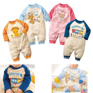 Baby clothing baby spring clothing new Siamese clothes cute animals climbing clothing cotton dress newborn clothes