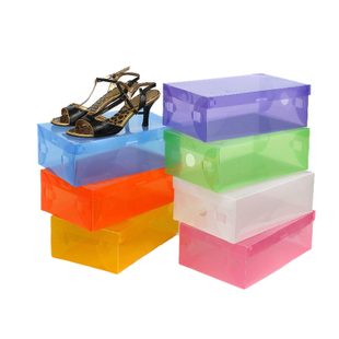 National post color transparent shoe box shoe box of thickened metal side drawer plastic storage boxes